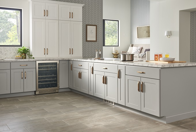 Dartmouth White Pewter Cabinets