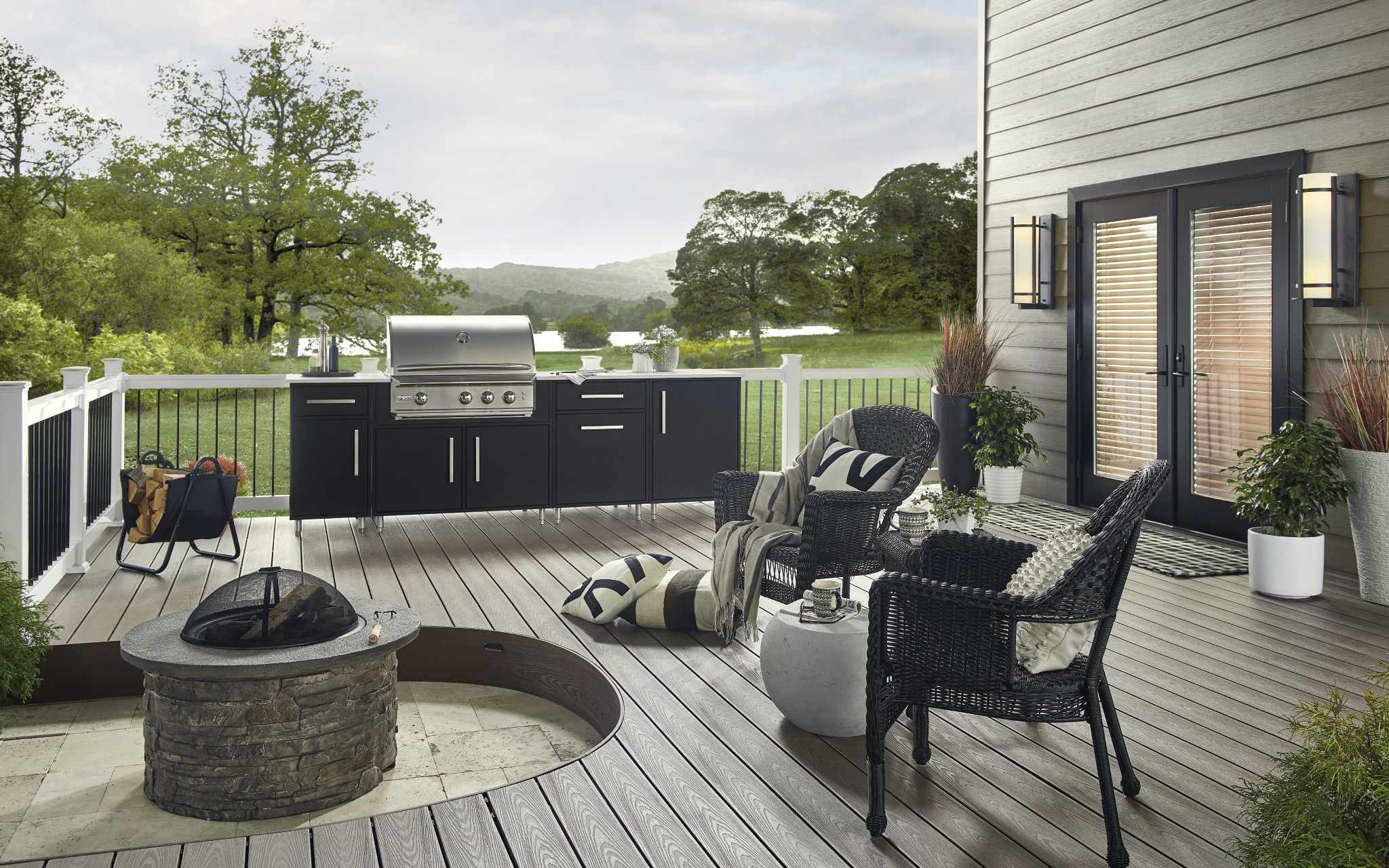 Firepit & Wolf Perspective Decking