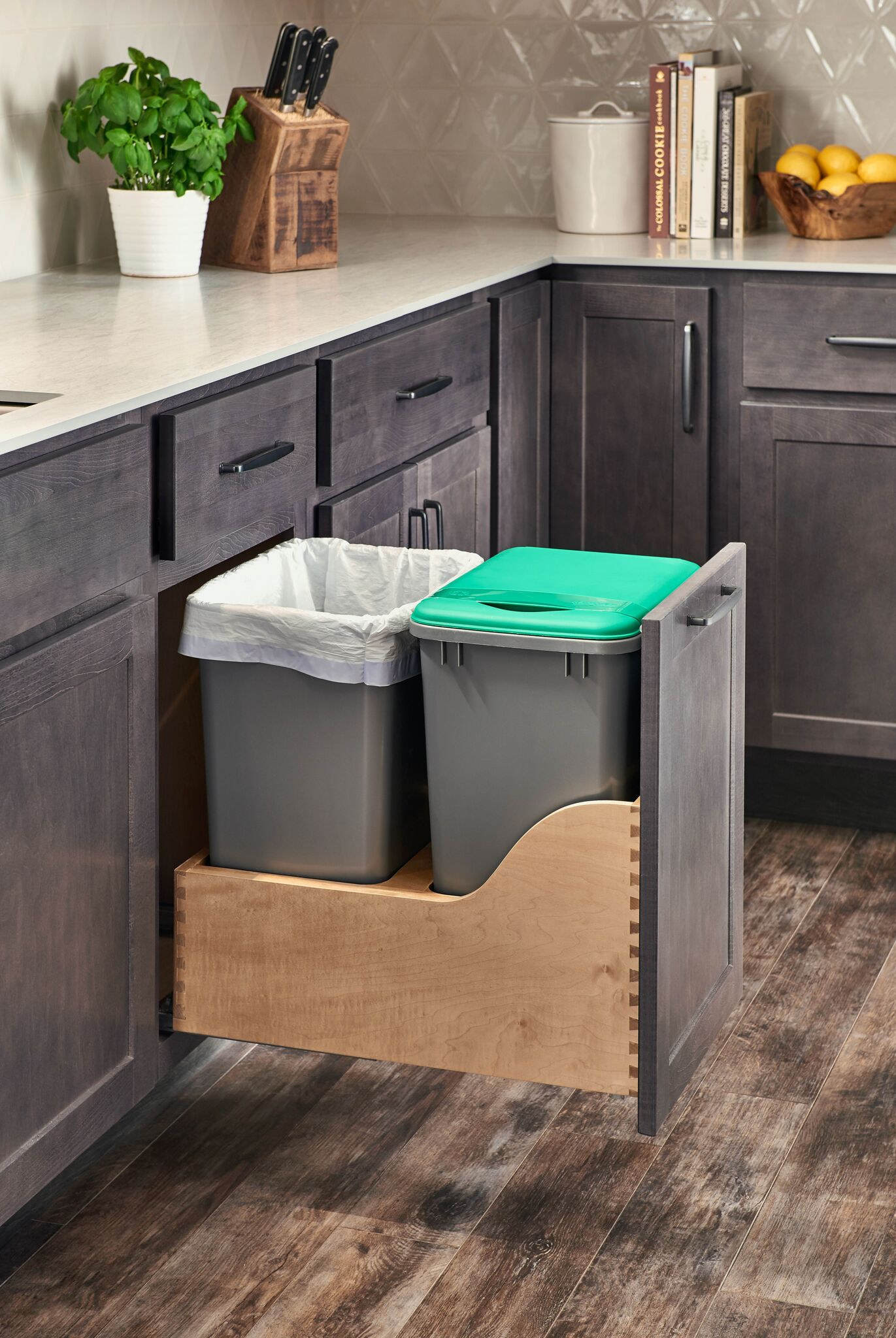 Hanover Grey Trash Can Pull Out
