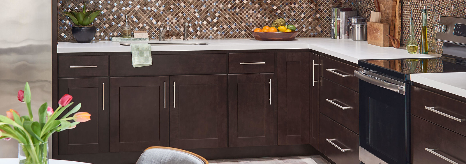 Wolf Classic Cabinets in Dark Sable