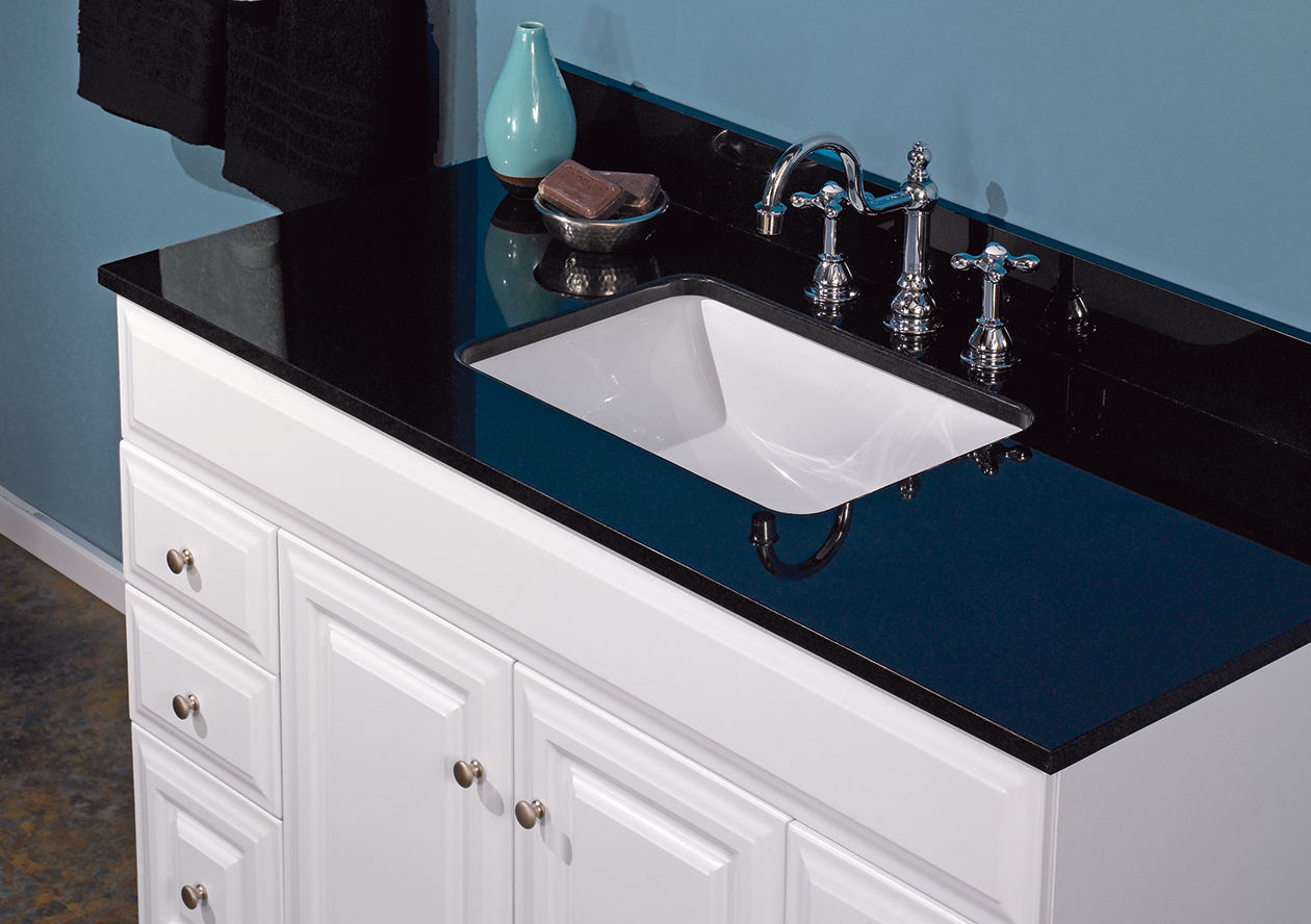 Black Natural Granite Vanity Top