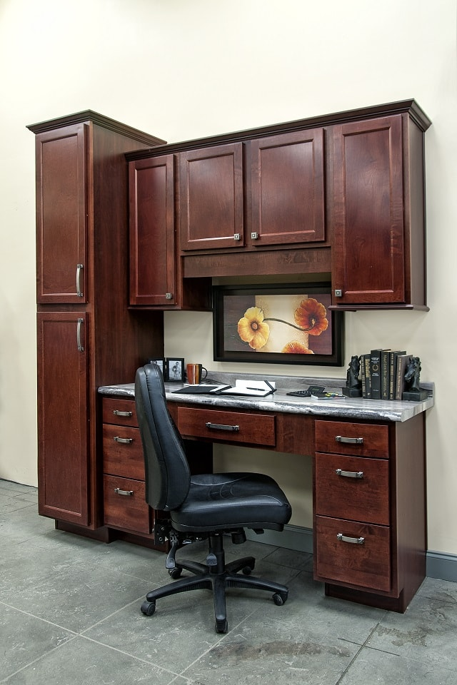 Builders Mark Cabinet from Wolf Home Products in Auburn Stain
