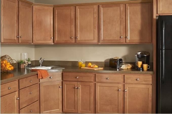 Builders Mark Cabinet from Wolf Home Products in Nutmeg