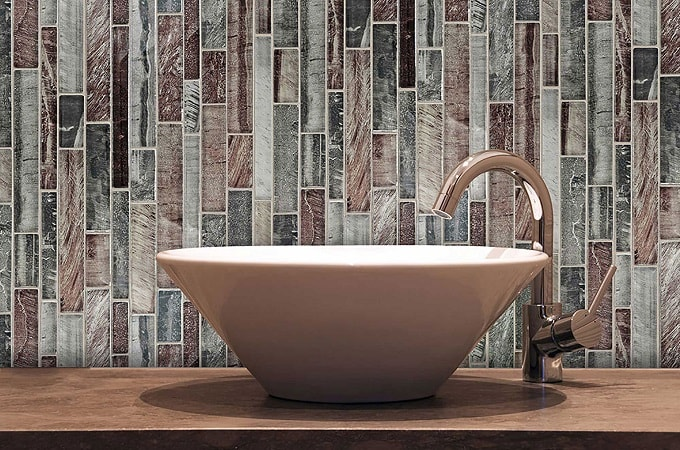 Wolf Accents - Mosaic Surface in Blush Lines