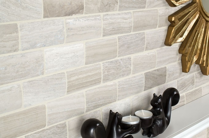 Wolf Accents - Mosaic Surface in Brushed Brick
