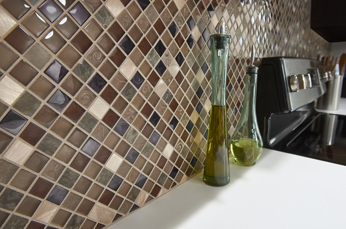 Wolf Accents - Mosaic Surface in Copper Stone