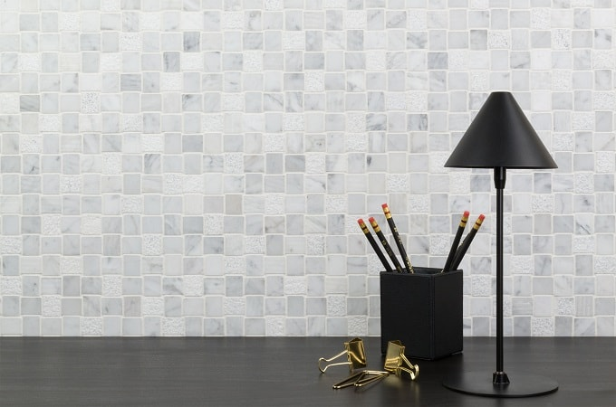 Wolf Accents - Mosaic Surface in Polar Stone
