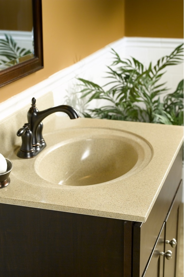 Wolf Cultured Marble Vanity Top in Sand