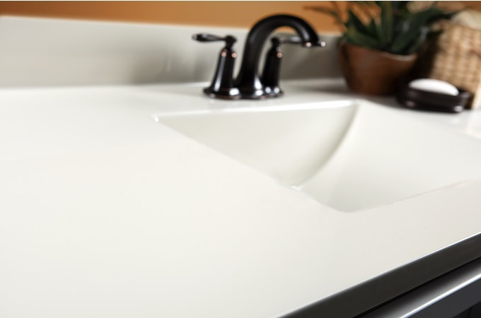 Wolf Cultured Marble Vanity Top in Linen