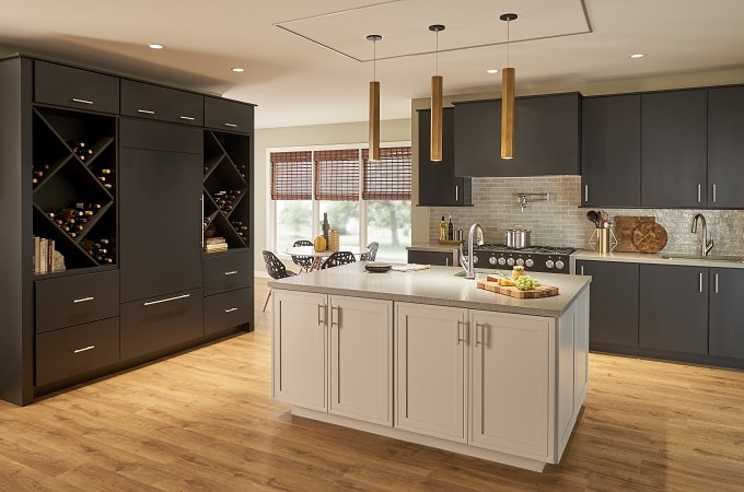 Wolf Designer Cabinets in Ebony & Stone Paints
