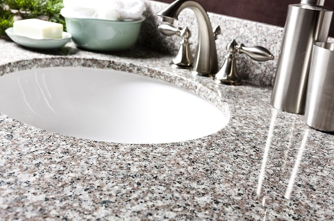 Wolf Natural Granite Vanity Top in Burlywood