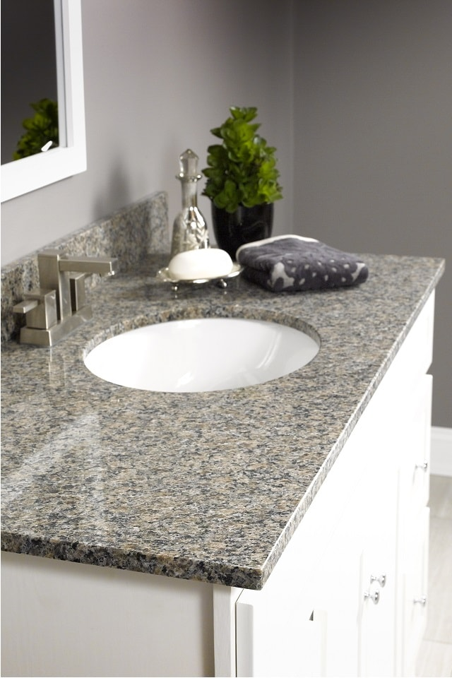 Wolf Natural Granite Vanity Top in Rio Roca