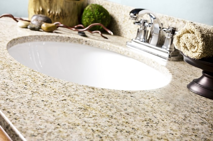 Wolf Natural Granite Vanity Top in Wheat