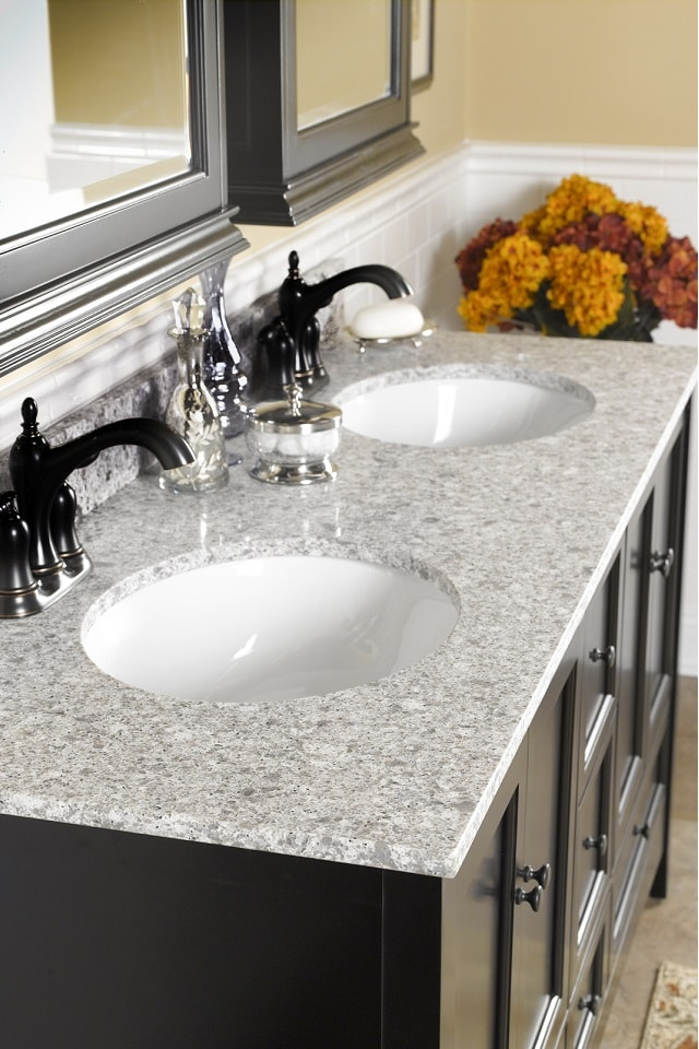 Wolf Quartz Vanity Top in Ocean Grey