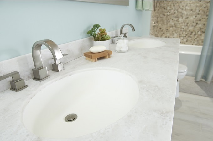 Wolf Solid Surface Vanity Top in Ocean View