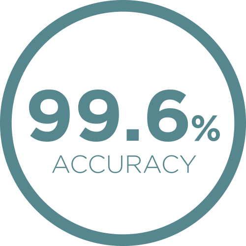 99.6% Accuracy Icon
