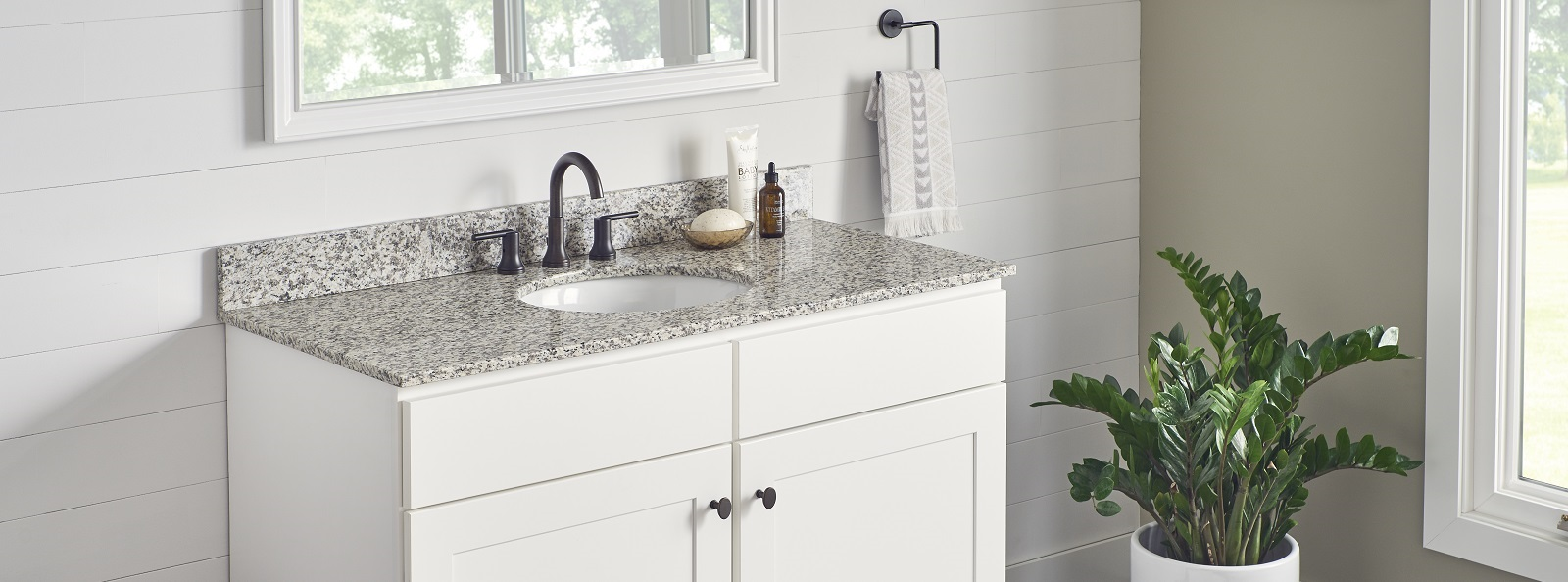 Natural Granite Tigerskin White Vanity