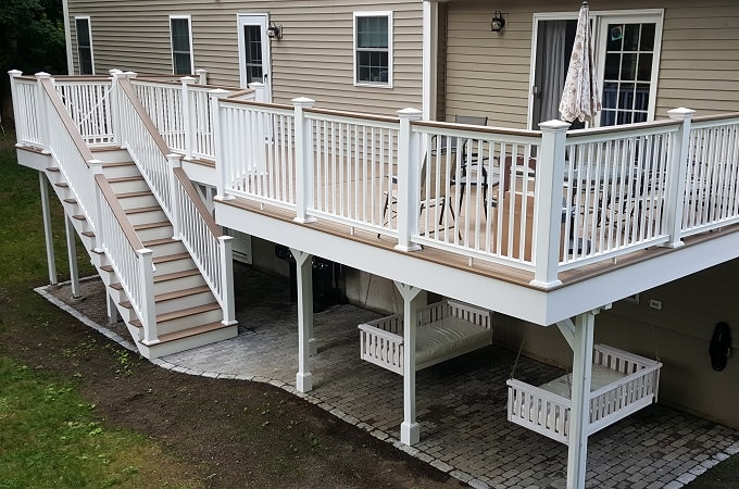 Wolf Serenity Decking in Amberwood