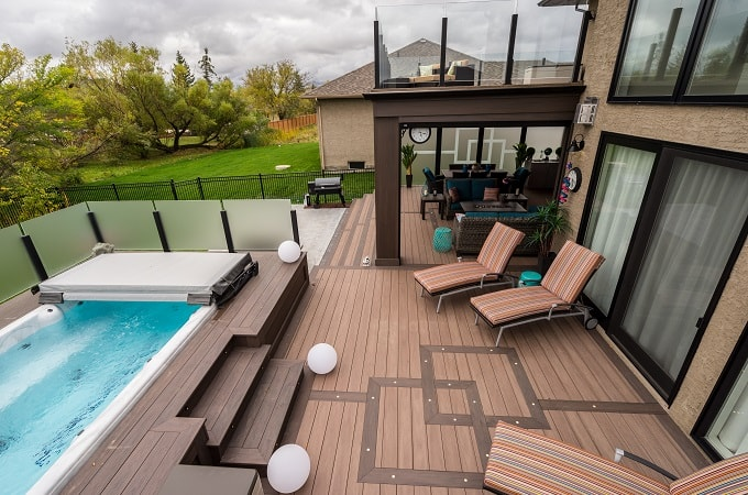 Wolf Serenity Decking in Weathered Ipe & Black Walnut