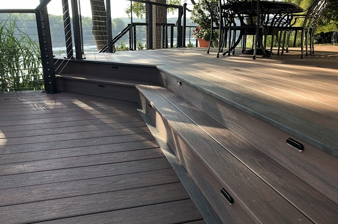 Wolf Serenity Decking in Rosewood & Black Walnut