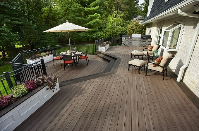 Wolf Serenity Decking in Weathered Ipe