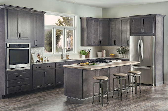 Wolf Classic Kitchen Cabinetry in Grey Stain