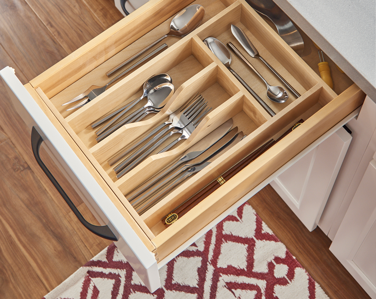 White Cabinet Drawer with Storage
