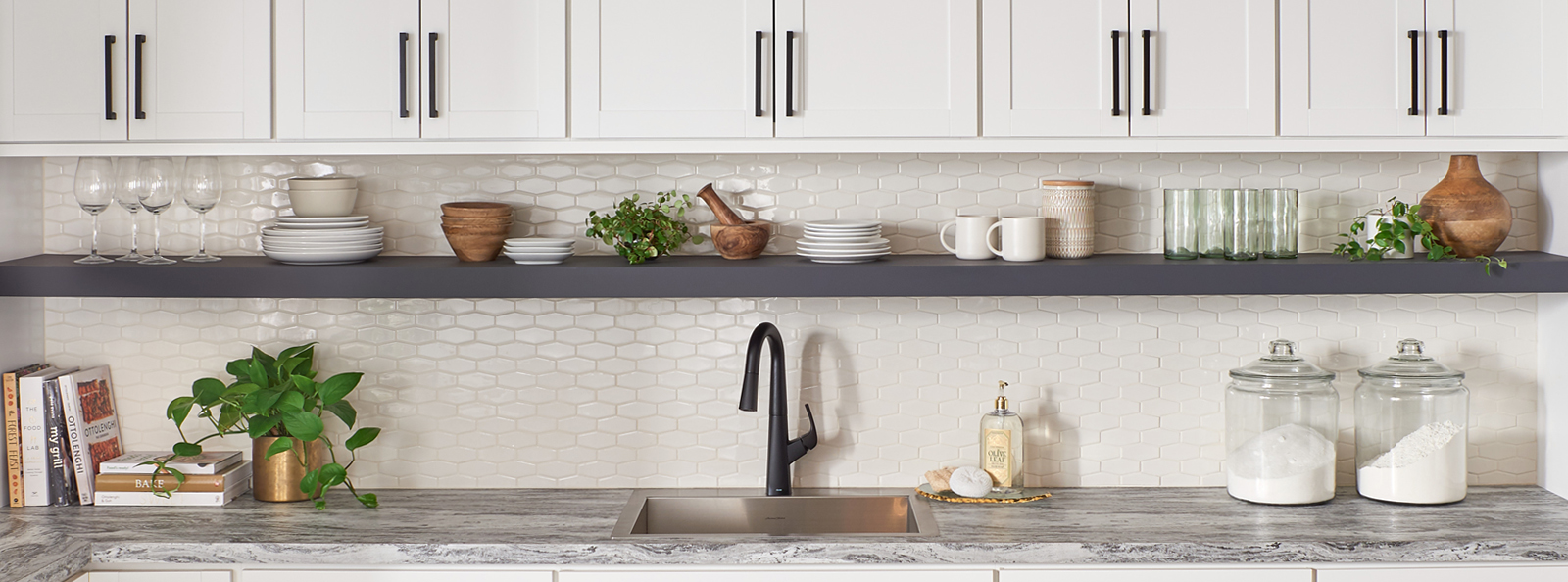 Grey Pearl Backsplash