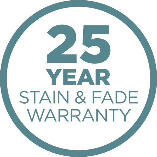 25-Year Stain and Fade Warranty
