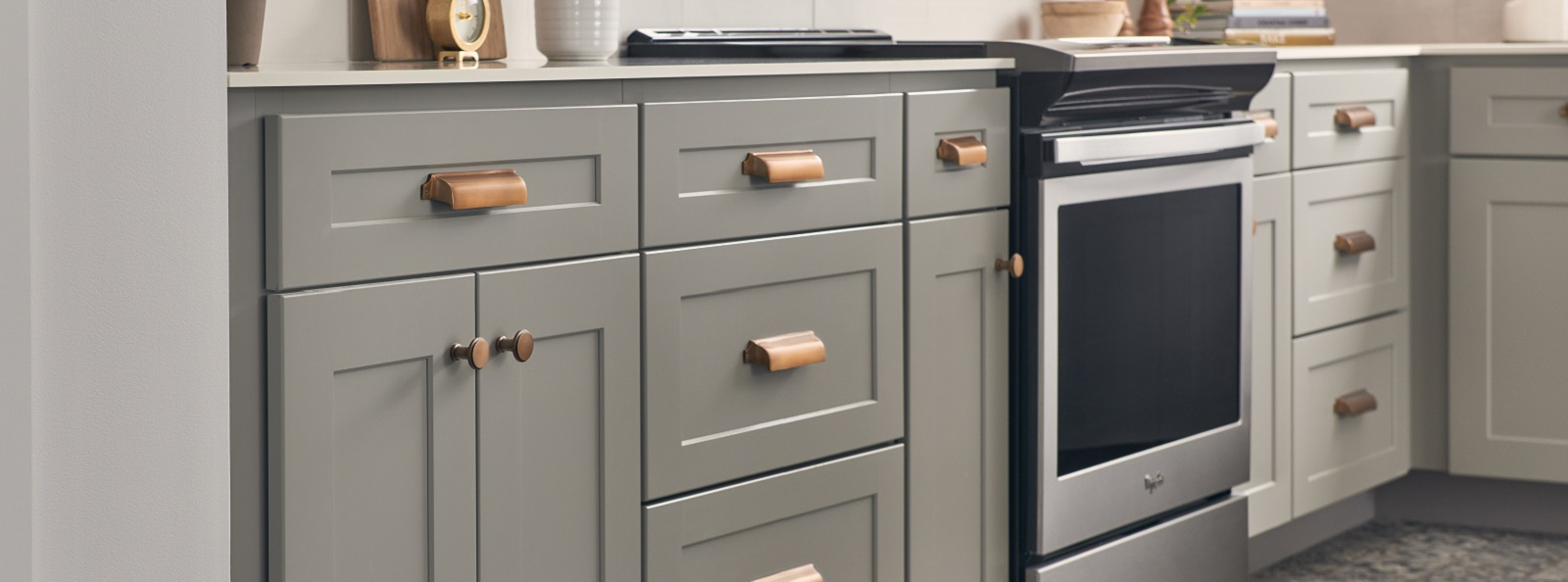 Wolf Classic Dartmouth Pewter Base Cabinets