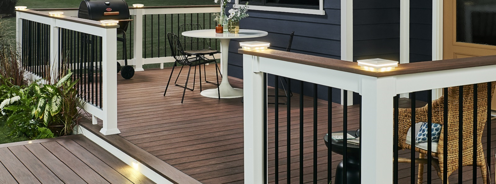 Outside Deck with White Railings