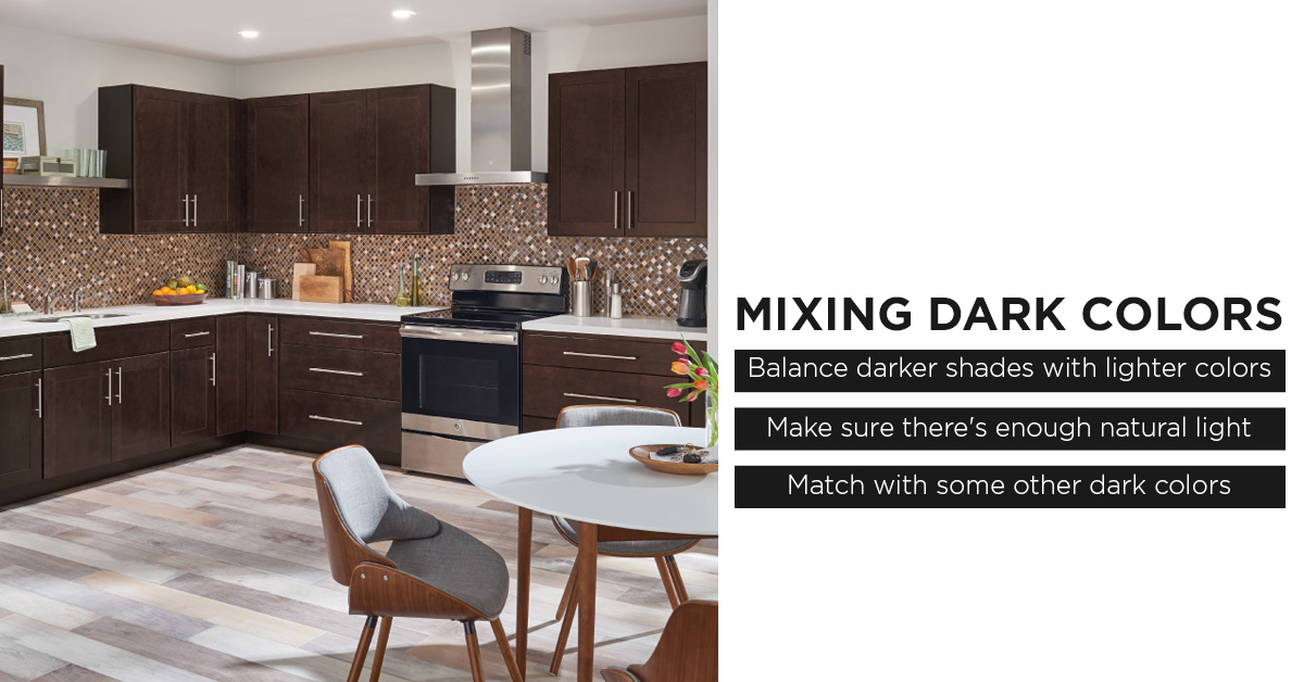 Mixing Dark Colored Cabinets