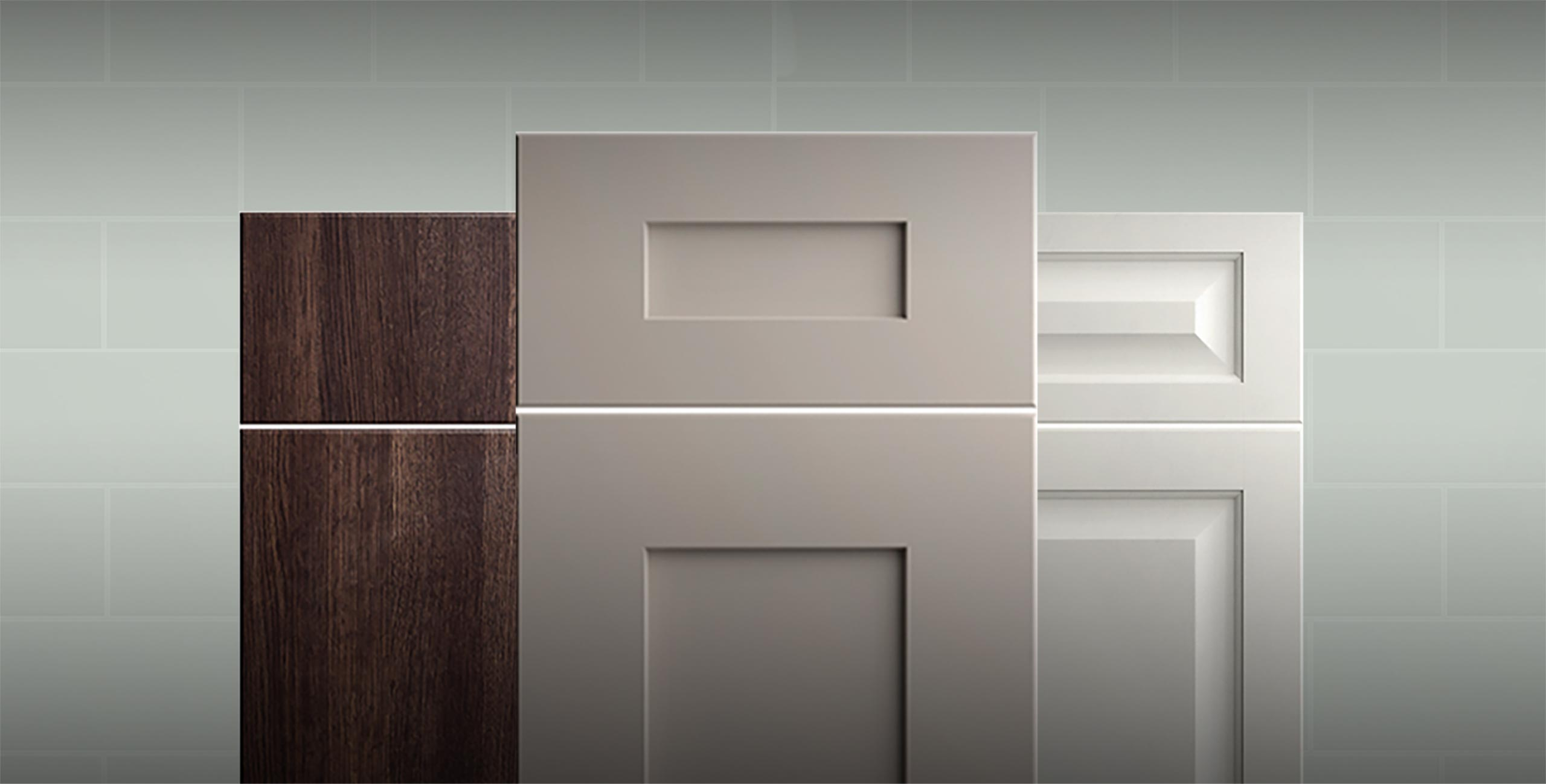 Door styles from the Wolf Transition cabinetry line