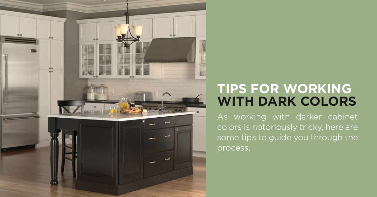 Tips for working with dark colors