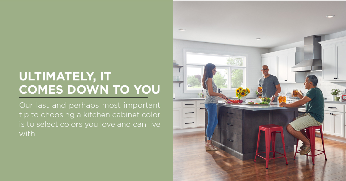 tip for choosing a kitchen cabinet color