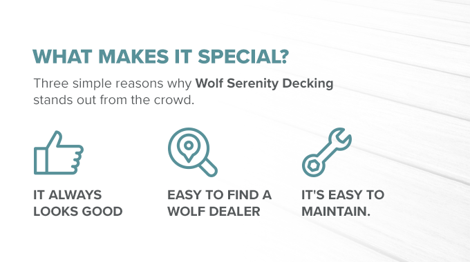 What Makes Wolf Serenity Decking Special
