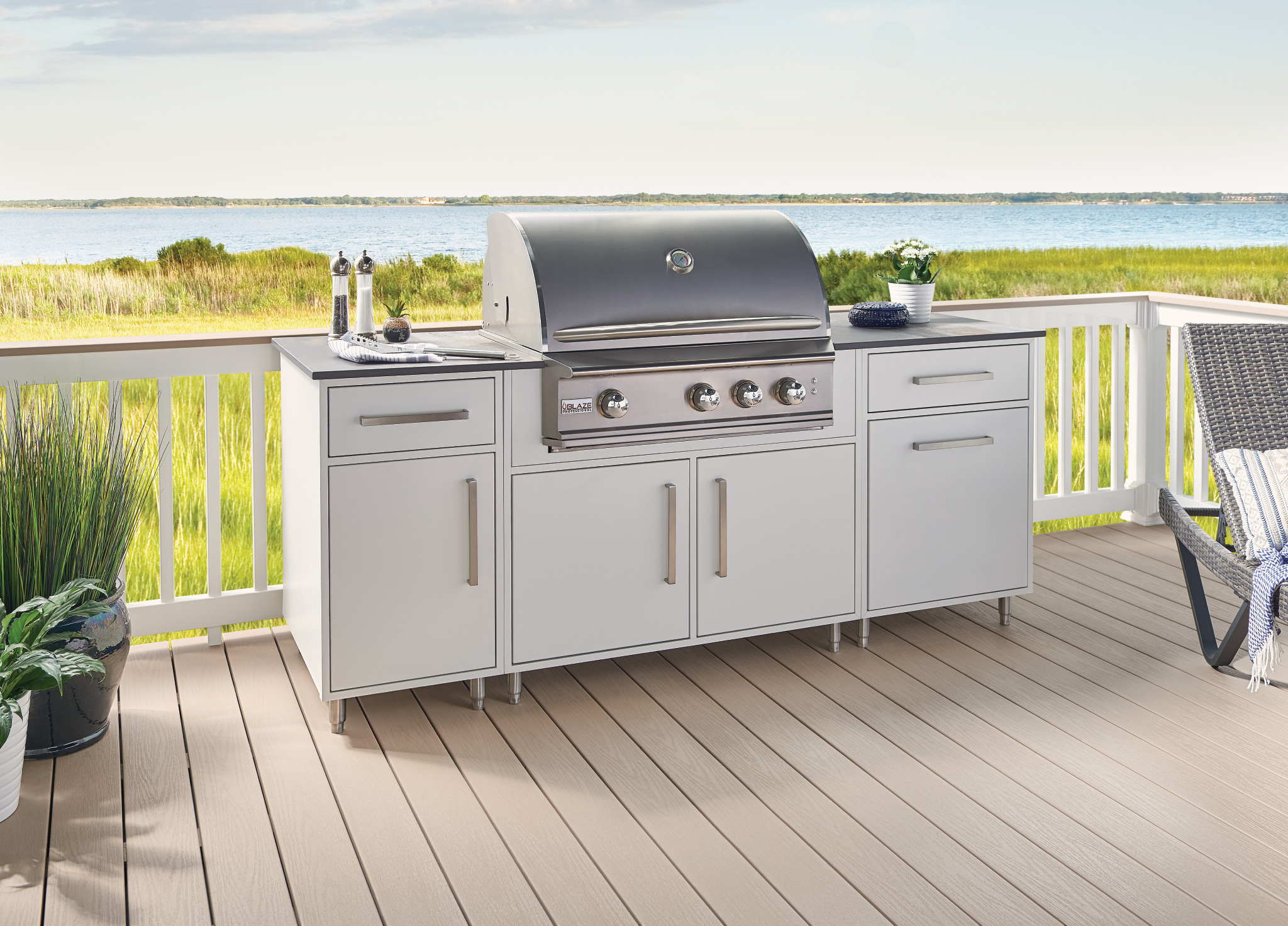 White Outdoor Cabinetry