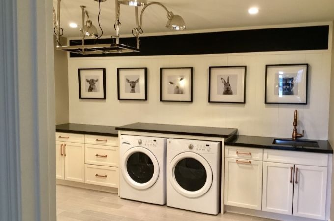 Wolf Transition Cabinets in Laundry Room