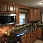 Saginaw Cabinets in Honey