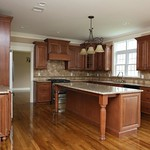 Hudson Cabinets in Heritage Brown