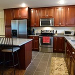 Saginaw Cabinets in Crimson