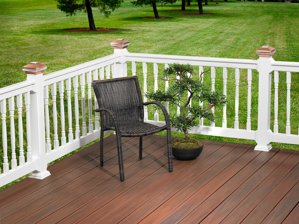 PVC Railing Backyard