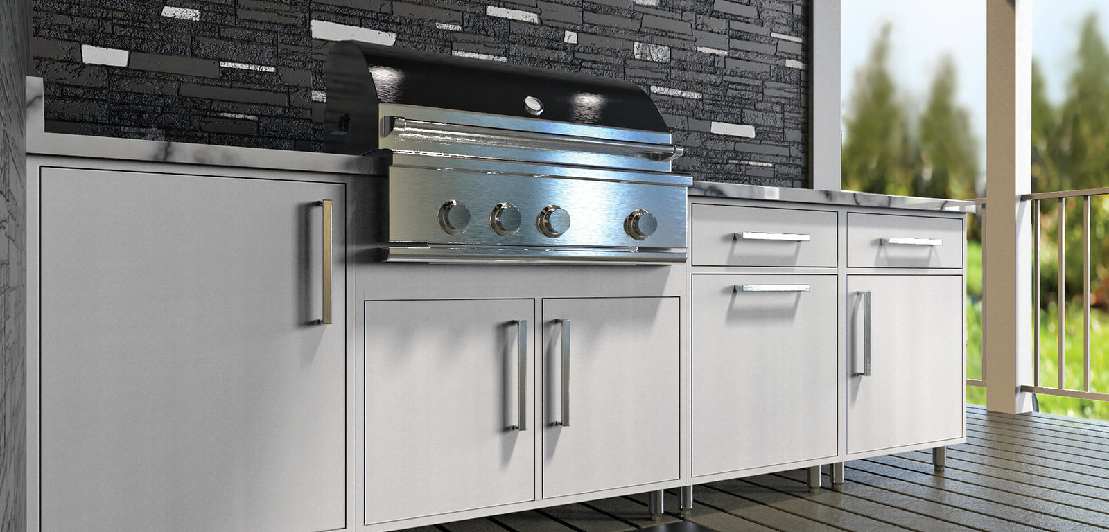 Outdoor Cabinetry White