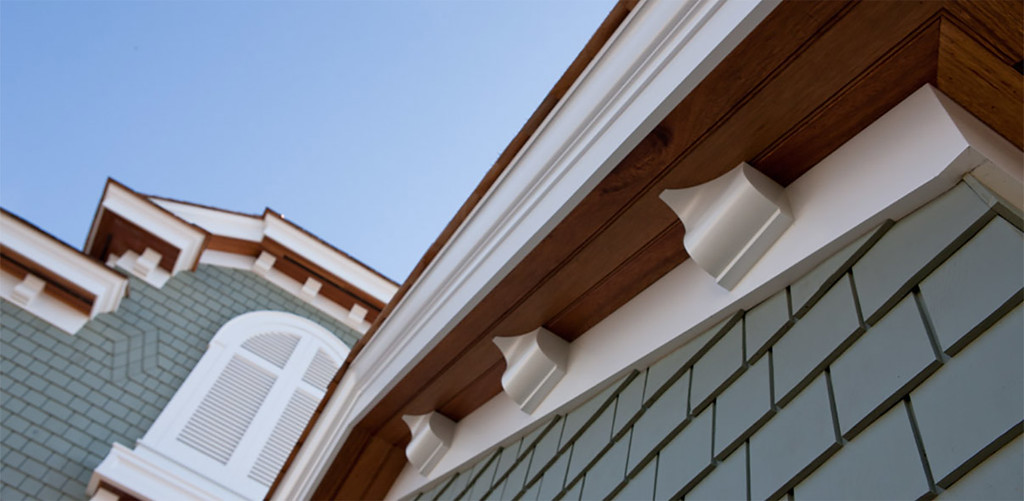 White Mouldings on House