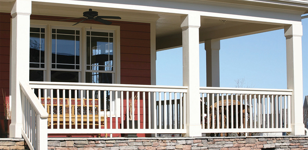 White Column Wraps on Porch