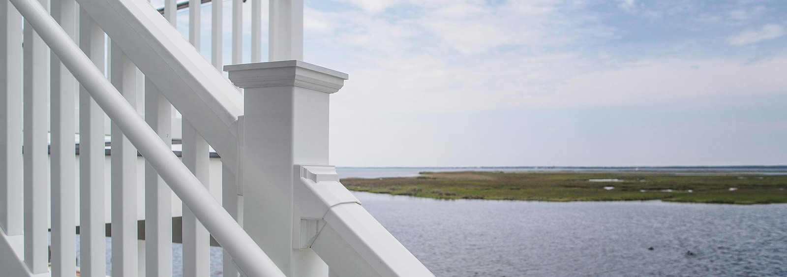 PVC Railing System Overlooking Water