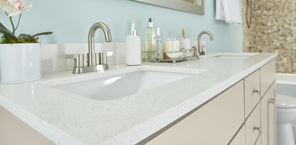 Dual Sink Quartz Vanity Top