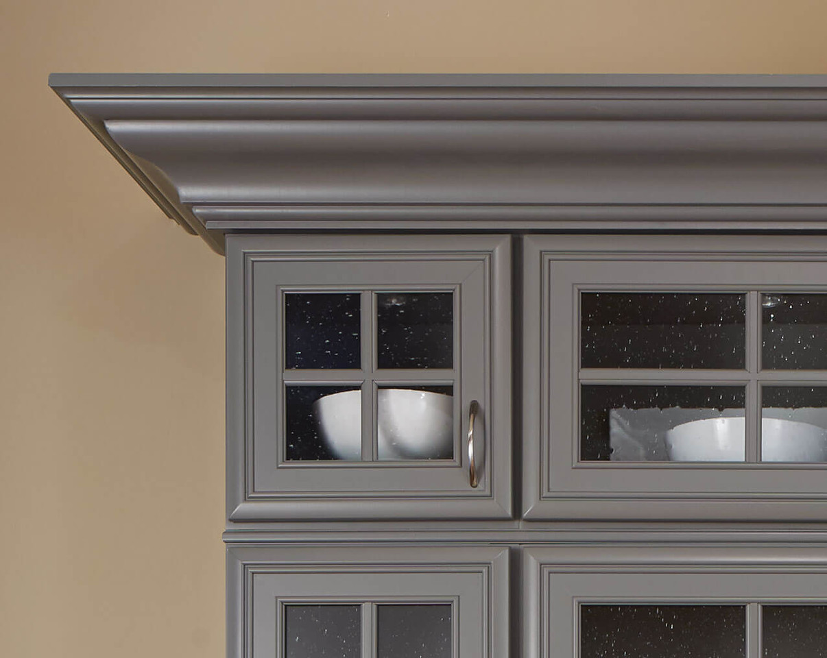Grey Crown Moulding