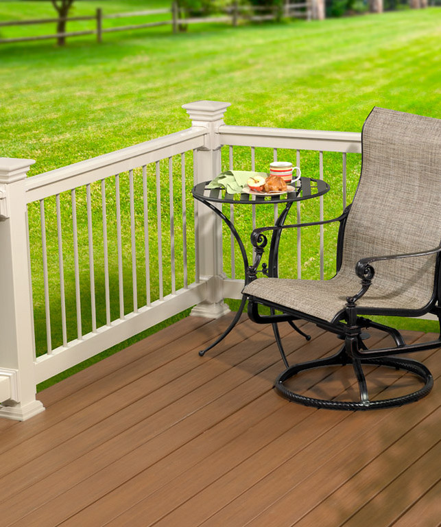 Classic Series Traditional Rail in Almond
