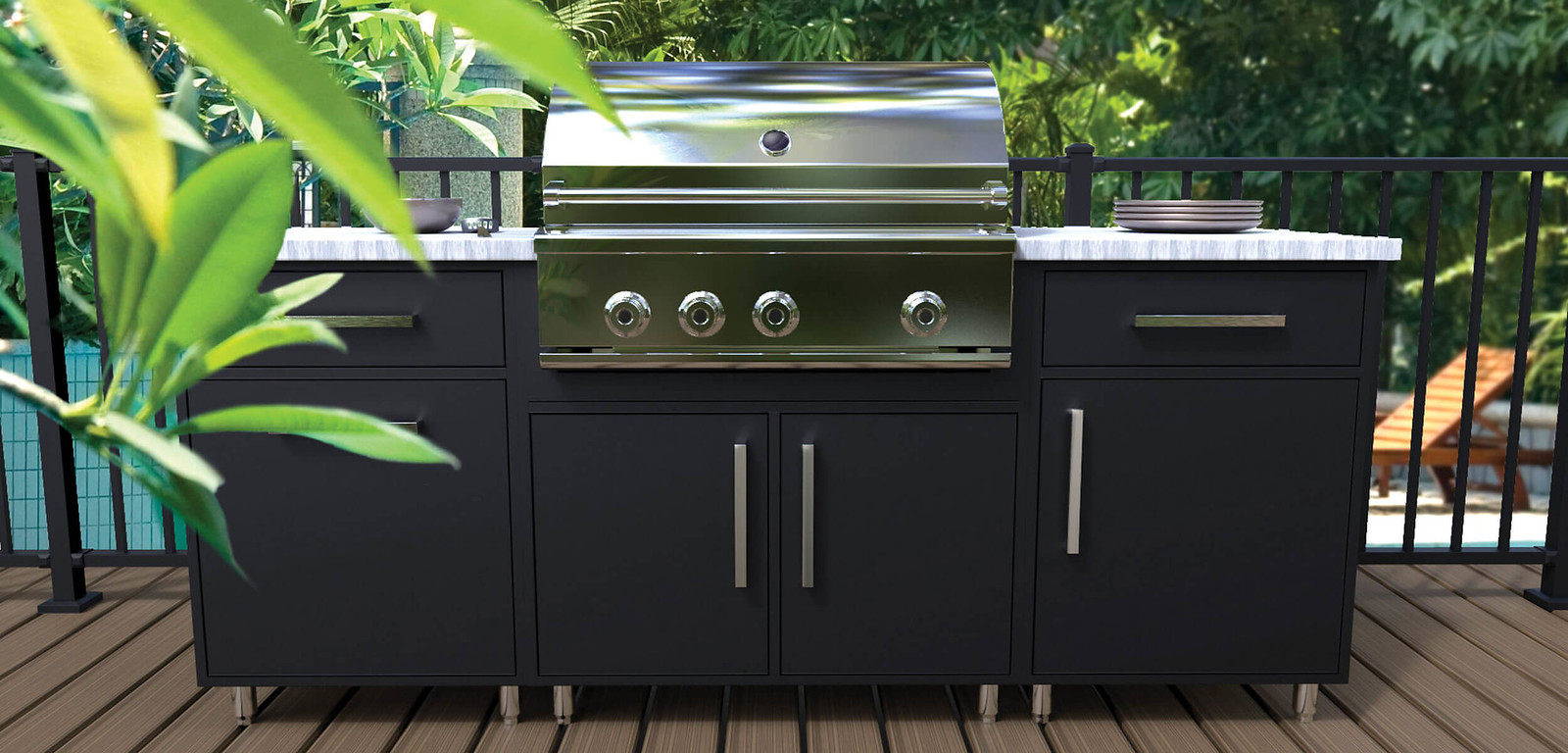 Outdoor Cabinetry Black